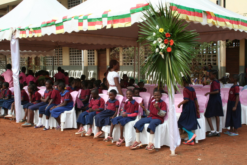 School children present at the ceremony