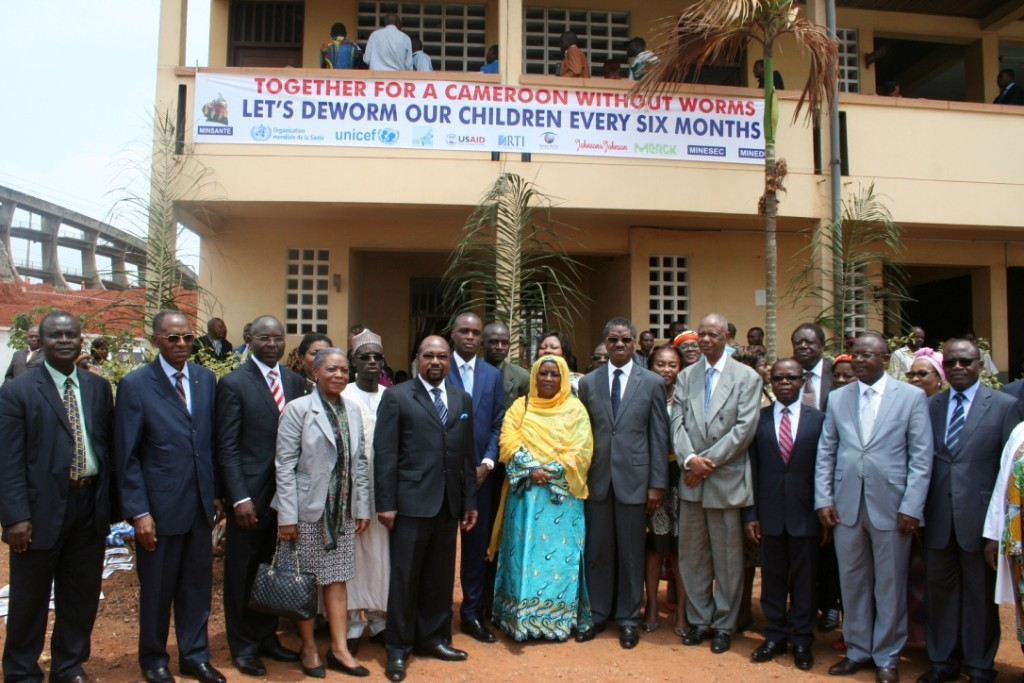 Ministers of Public Health and Basic Education with key stakeholders involved in the control of schistosomiasis and STH