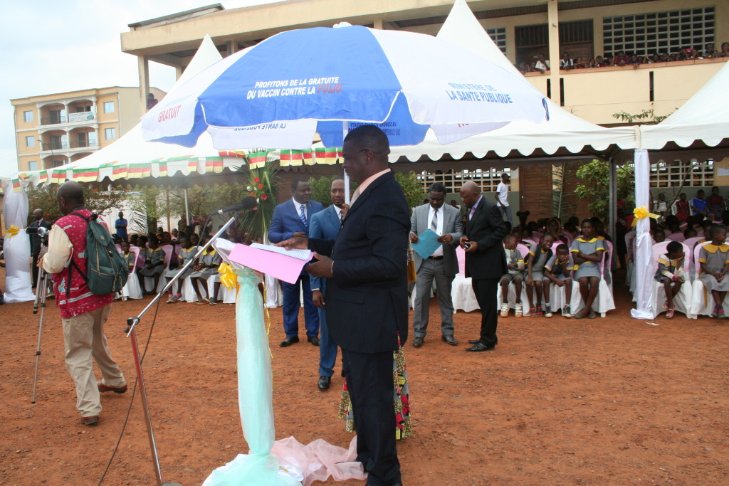The Director of the host, Government Primary School, Mfandena II, Yaounde.