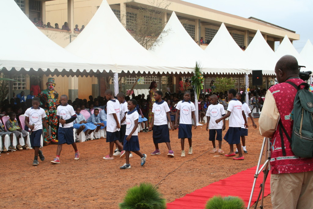 School children performing a sketch