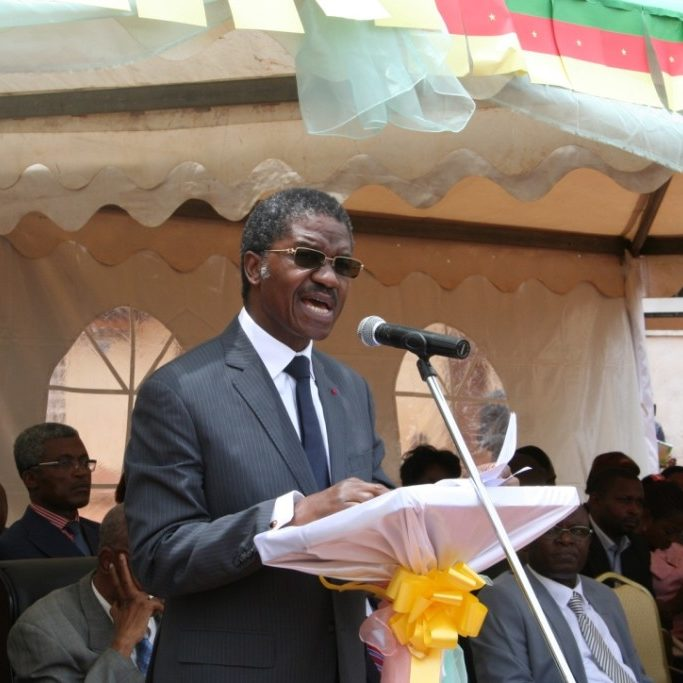 Minister of Public Health addressing the audience
